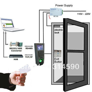 time-attendance-for-access-control-f18-rfid-fingerprint-recognition12v3a-power-supply-magnetic-lock-exit-button_42337
