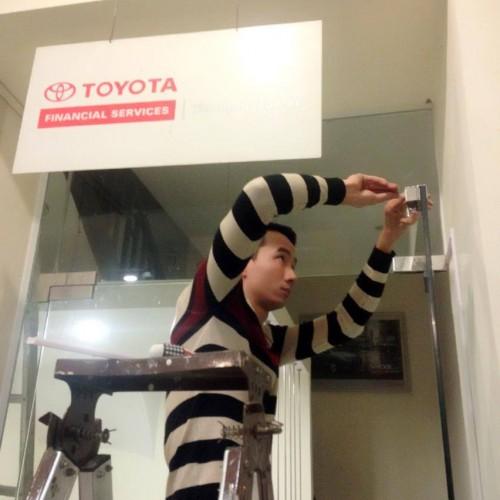 Triển khai lắp đặt kiểm soát cửa ra vào tại showroom Toyota Hoàn Kiếm