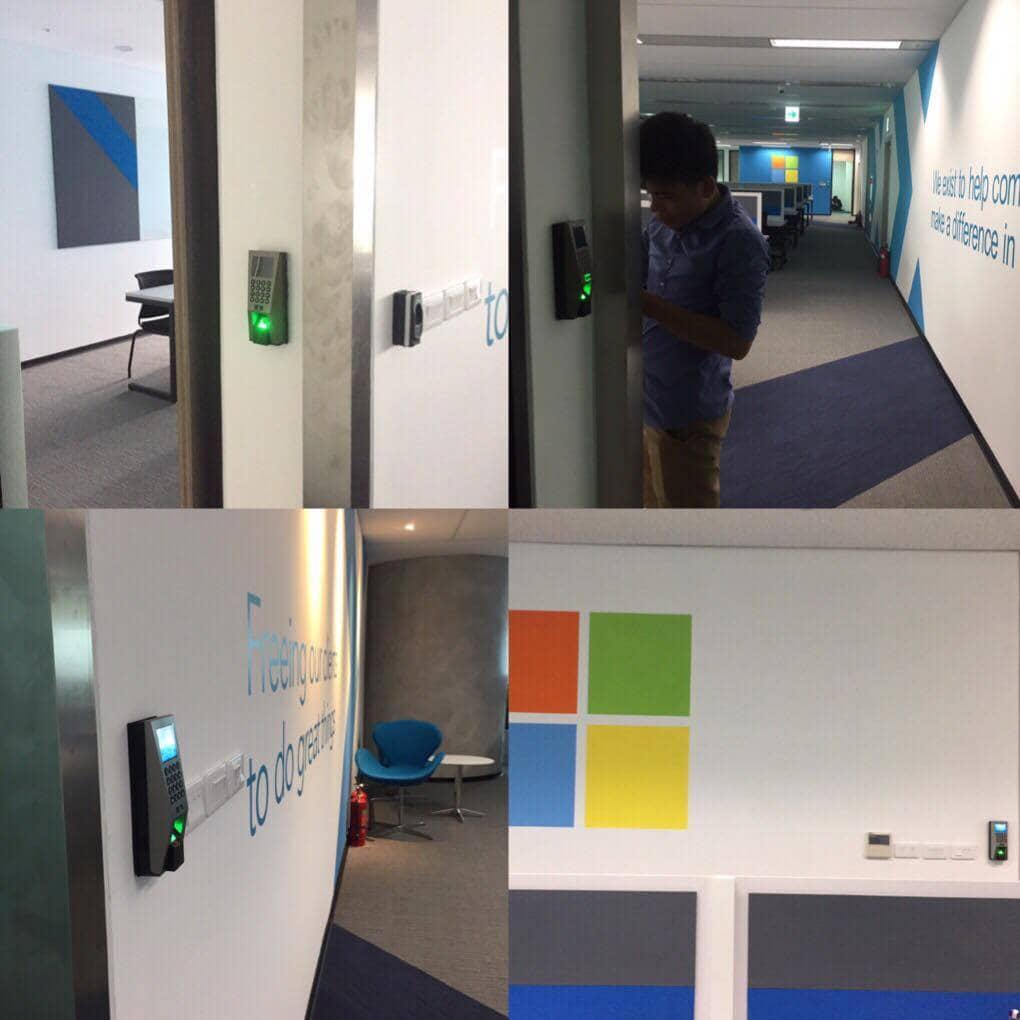 Triển khai lắp đặt hệ thống an ninh kiểm soát ra vào kết hợp báo động cho văn phòng Microsoft tại Việt Nam
